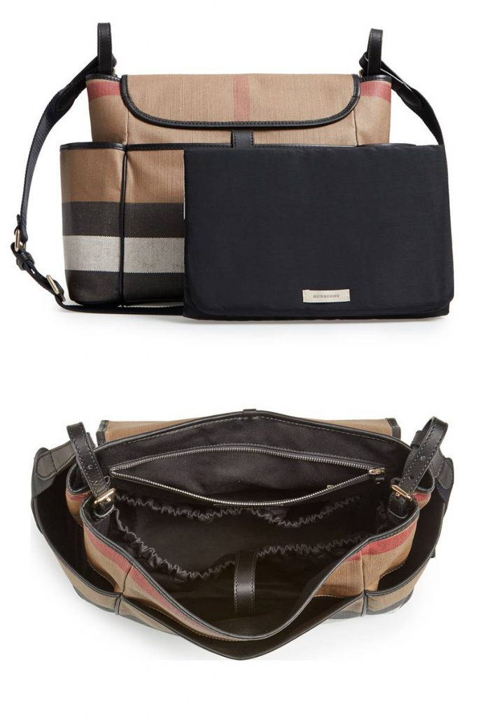 a69e17ac31145 burburry stylish diaper bag for moms who want to look like they are wearing  a purse