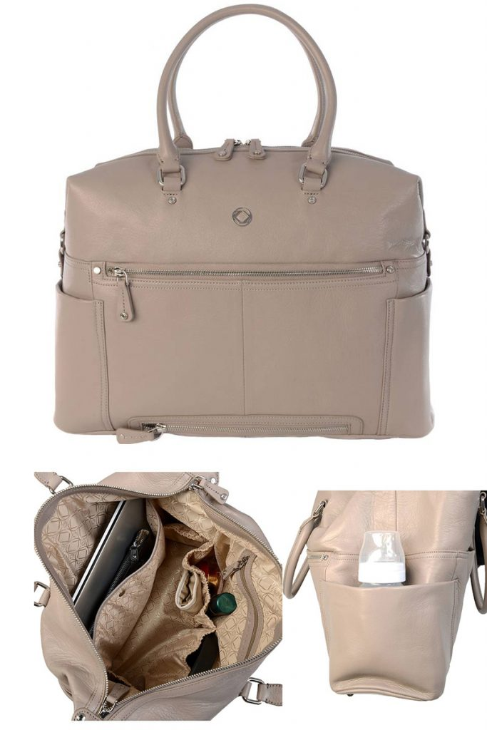 Silver Leather Stylish Diaper Bags For Trendy Moms Who Want To Look Like They Are Rocking