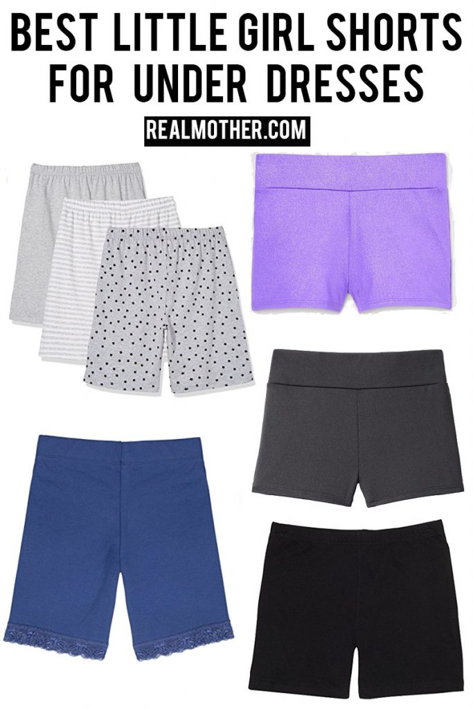 best shorts for under dresses for little girls.